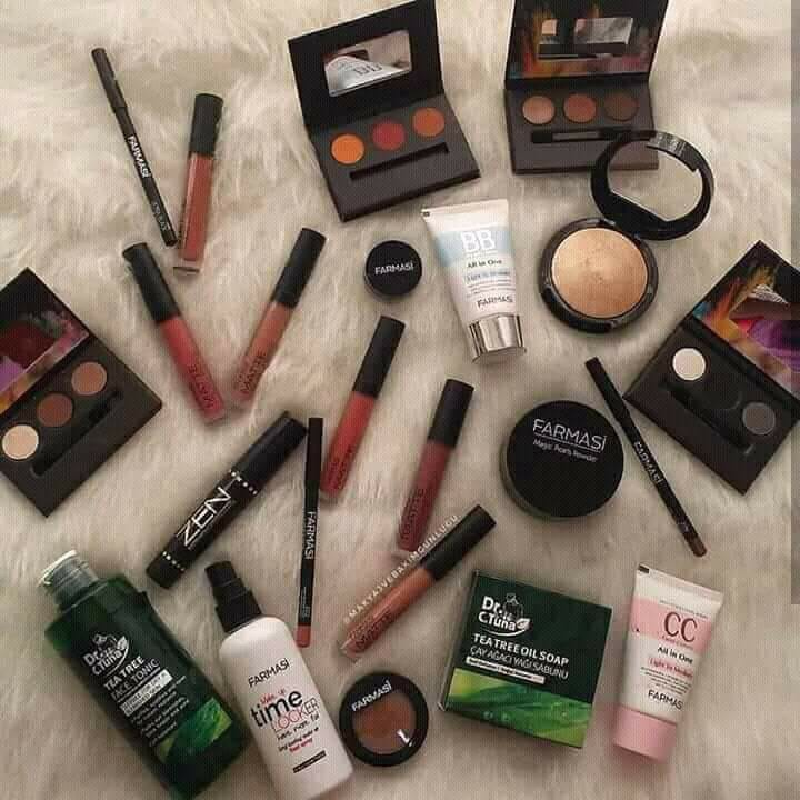 Different Makeup Products By Farmasi