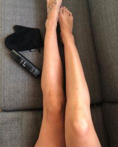 self tanned skin