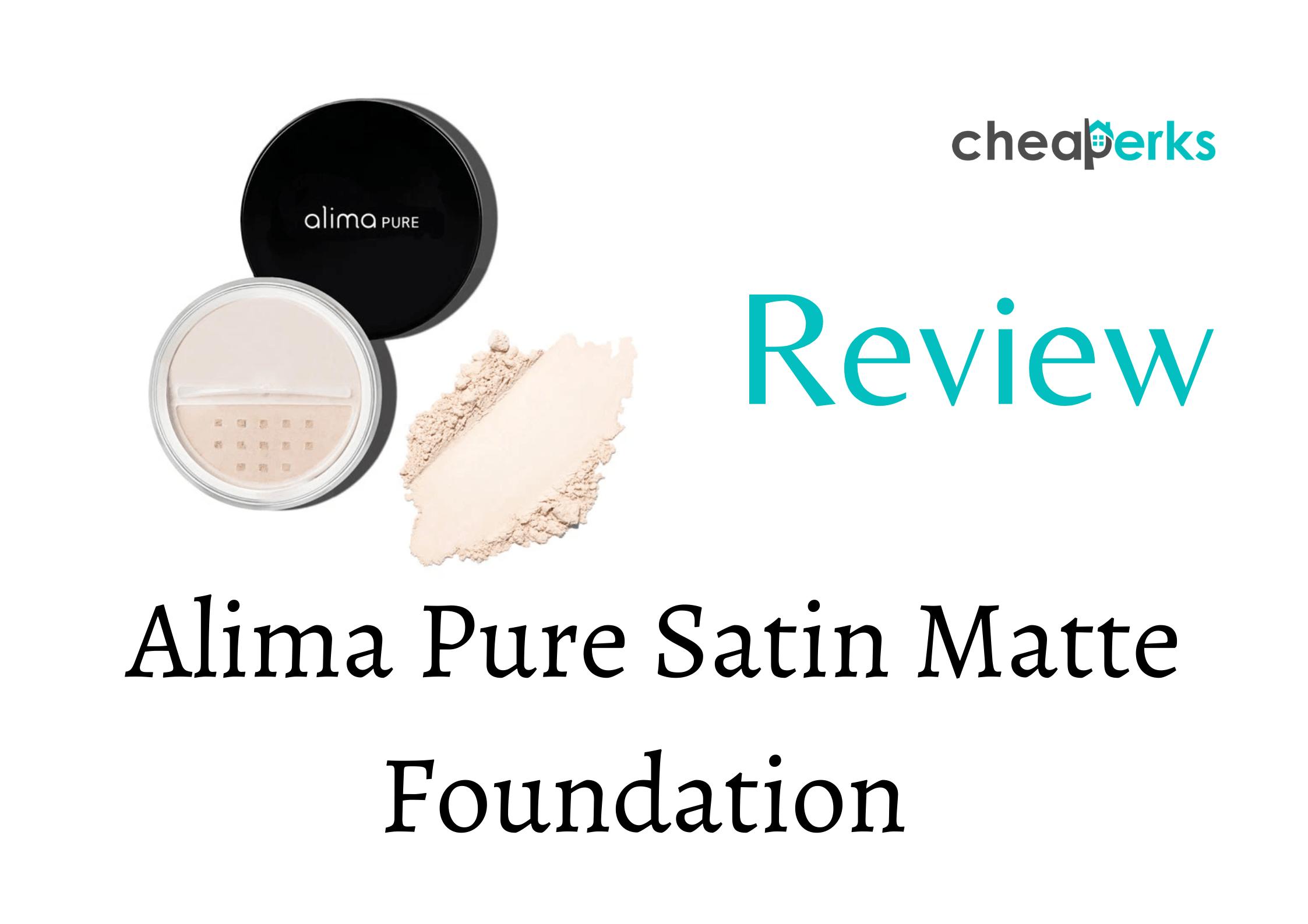 Alima Pure Satin Matte Foundation Review Unbiased Report 2020