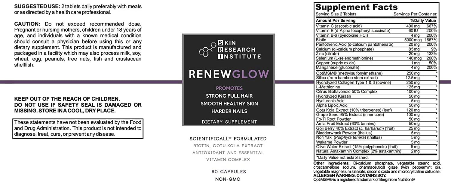renewglow ingredients