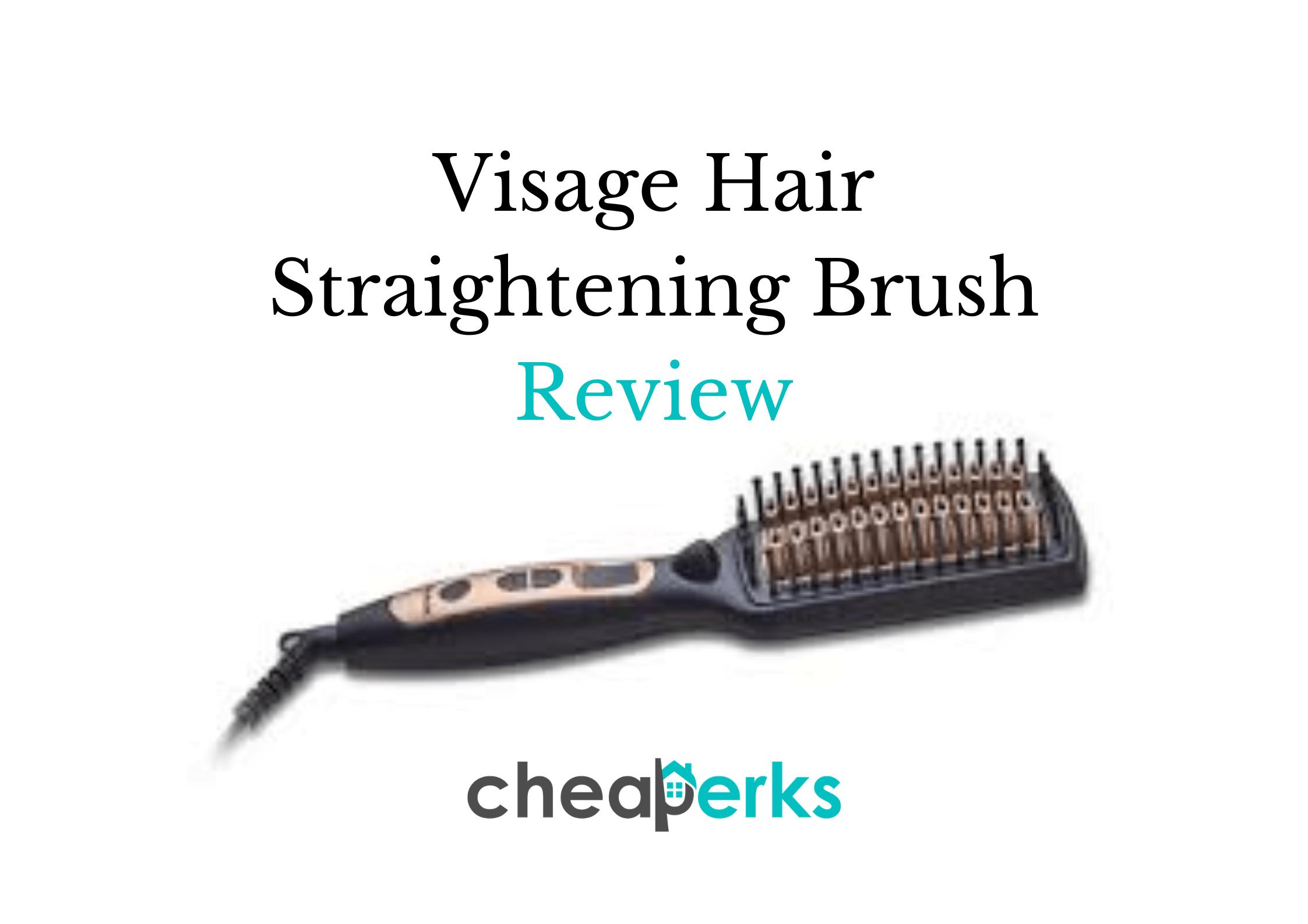 Visage Hair Straightening Brush Review