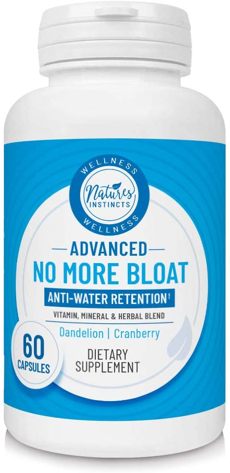 Nature's Instincts No More Bloat Herbal Supplement for Water Retention